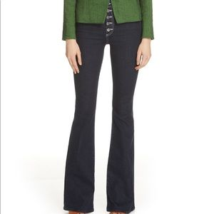 VERONICA BEARD Beverly Button Fly Skinny Flare